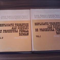 EXPLICATII TEORETICE ALE CODULUI DE PROCEDURA PENALA ROMAN VOL I+II V.DONGOROZ - Carte Drept penal