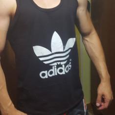 Maiou tricou Adidas masura S M L XL - Tricou barbati Adidas, Culoare: Negru, Fara maneca, Bumbac