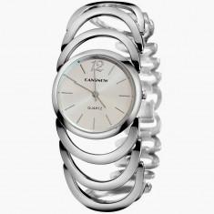 NOU Ceas de dama argintiu elegant ocazie fashion curea metalica CANSNOW tip CK - Ceas dama Calvin Klein, Quartz, Metal necunoscut, Analog