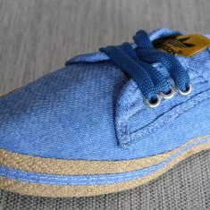 Adidasi espadrile de dama Adidas albastru poze reale masura 36 38 - Adidasi dama