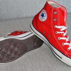 Adidasi tenisi Converse All Star rosii poze reale masura 43 - Tenisi barbati Converse, Culoare: Rosu, Textil