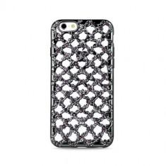 Husa spate iPhone 7 / iPhone 8 Flower Diamond Neagra