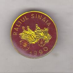 Bnk ins Insigna Raliul Sinaia 1990 - rosie, Romania de la 1950