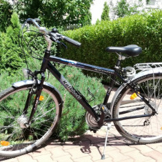 Bicicleta trekking Kalkhoff, 28 inch, Numar viteze: 7, Aluminiu, Negru-Albastru