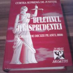 BULETINUL JURISPRUDENTEI CULEGERE DE DECIZII PE ANUL 2000 - Carte Jurisprudenta