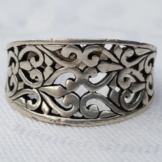 Inel argint CELTIC vechi SPLENDID executat manual VINTAGE de EFECT superb RAR