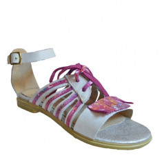 Sandale dama, MPL 620, alb roz din piele naturala