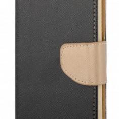 Husa piele Huawei P8lite (2015) Fancy Aurie Neagra - Husa Tableta