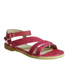 Sandale dama, MPL 602, rosu din piele naturala