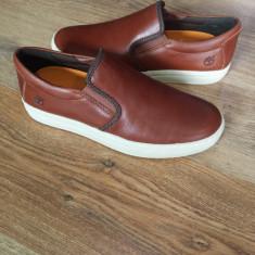 Pantofi/espadrile TIMBERLAND Earth Keepers anti fatigue originale noi piele 42 - Pantofi barbat Timberland, Culoare: Coniac