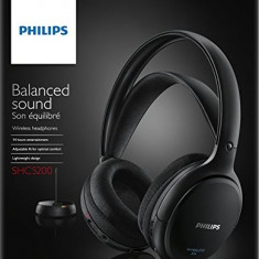 Casti wirelss PHILIPS SHC5200/10 negru - Casca PC Philips, Casti fara microfon, Wireless