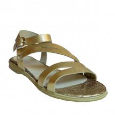 Sandale dama, MPL 601, auriu din piele naturala