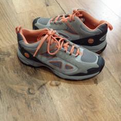 Pantofi sport dama TIMBERLAND originali noi piele+tesut foarte comozi 37 - Adidasi dama Timberland, Culoare: Gri, Piele intoarsa