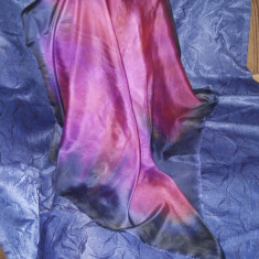 Batic, esarfa, matase naturala, spuma - Batic Dama, Culoare: Multicolor