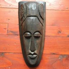 Masca sculptata din lemn model deosebit !!! - Arta Etnografica