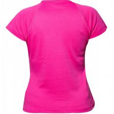 Tricou roz bumbac Heavy, cu anchior, de dama
