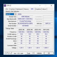 Memorie 4 GB DDR4 Crucial Ballistix Sport 2400mhz - Memorie RAM Crucial, Peste 2000 mhz