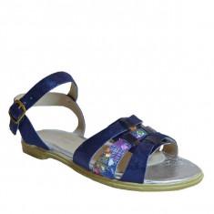 Sandale dama, MPL 605, albastru din piele naturala