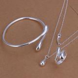 Set bijuterii placat argint 925 bratara dama+lant+pandantiv si inel poze reale