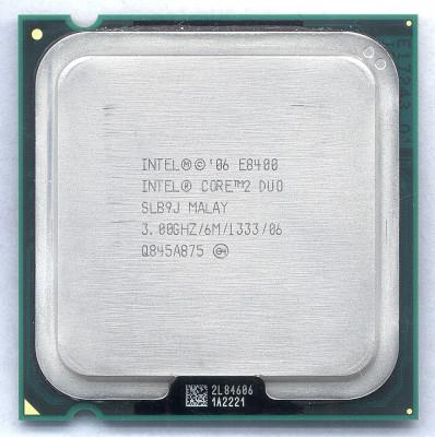 Procesor Core2duo E8400 2x 3.0ghz 6mb Cache 1333mhz Fsb foto