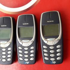 NOKIA 3310  , LOT 3 BUCATI  ., Albastru, Alta retea