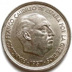 SPANIA, FRANCISCO FRANCO, 50 PESETAS 1957, URIASA 30mm., Europa, Crom