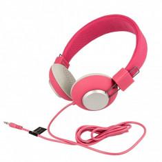 Casti Stereo Jelly roz Blister Sony, Casti On Ear, Cu fir, Mufa 3, 5mm