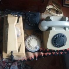 2 Telefoane cu disc retro - Telefon fix