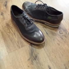 Superbi pantofi barbat TIMBERLAND Sensorflex originali noi piele + tesut 40, Culoare: Gri, Piele naturala, Casual