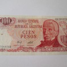 Argentina 100 Pesos - bancnota america, An: 1943
