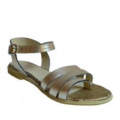 Sandale dama, MPL 618, auriu din piele naturala