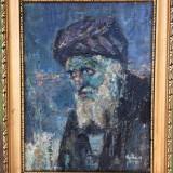 Tablou autentic Yehuda Rodan pictor evreu Portret Rabbi - Pictor roman, Portrete, Ulei, Altul