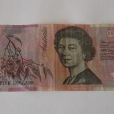 Bancnota 5 dolari australieni