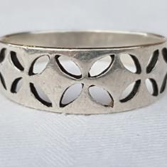 Inel argint CELTIC executat manual prin TRAFORAJ vintage SPLENDID vechi
