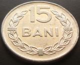 Moneda 15 Bani - ROMANIA, anul 1975 *cod 5024 Allu- Excelenta Luciu, Aluminiu