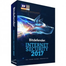 Securitate Bitdefender Internet Security 2017, 3 PC, 1 an, New License, Retail - Antivirus