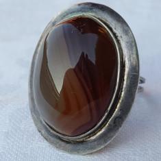 OPULENT Inel argint oval cu piatra Semipretioasa VECHI vintage SPLENDID superb