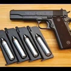 Pistol airsoft 4, 1 j FOARTE PRECIS, de la 5 m sparge o sticla de ciob - Arma Airsoft Cyber Gun