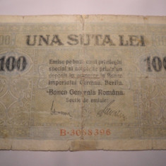 100 lei 1917 BGR - Bancnota romaneasca