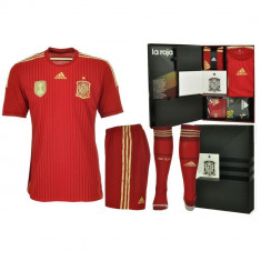 Set Tricou Sort Jambiere Adidas Spania EDITIE LIMITATA, Autentic ! - Set echipament fotbal Adidas, Marime: L, M