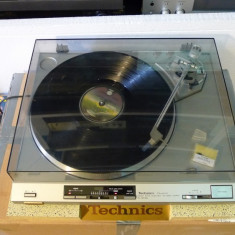 Pick-up Technics SL-QX300 Direct Drive Full Automatic, pe argintiu, poze reale! - Pickup audio