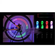 Capac ventil led multicolor, ventil roata, auto, bicicleta, moto - Accesoriu Bicicleta