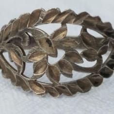 Inel argint motiv vegetal FLOARE art deco FRANTA 1920 vintage RAR finut DELICAT