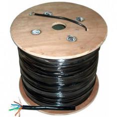CABLU UTP CAT5E CU + GEL NEGRU TAMBUR 305M - Cablu retea