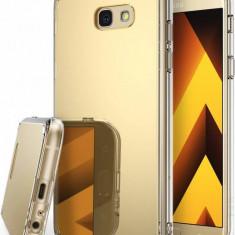 Husa Protectie Spate Ringke Mirror Royal Gold plus folie protectie display pentru Samsung Galaxy A5 2017 - Husa Telefon