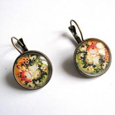 Cercei cu motiv floral 29031