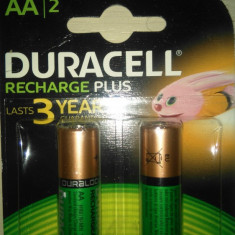 Set 2 bucati acumulatori R6 AA Duracell ultra de 1300 mah noi. - Baterie Aparat foto