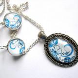 Set bijuterii model floral 29025