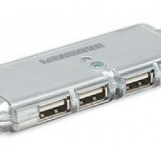 Manhattan hub de buzunar cu 4 porturi Hi-Speed USB 2.0