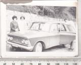 Bnk foto - Autoturism Moskvitch - anii `70, Alb-Negru, Transporturi, Romania 1900 - 1950